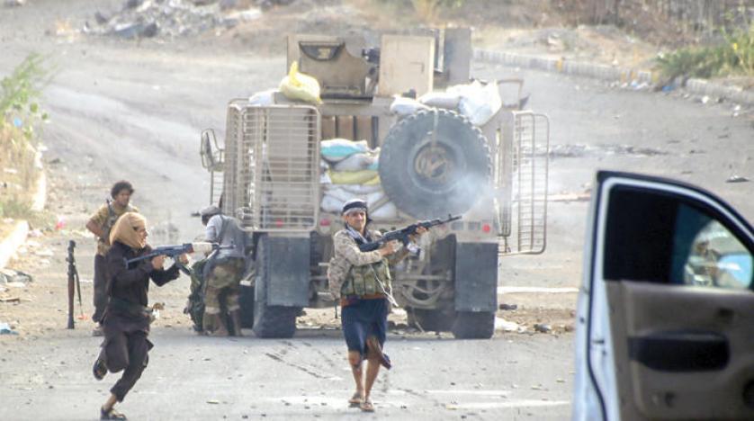 تجدد الاشتباكات العنيفة في محافظة أبين .